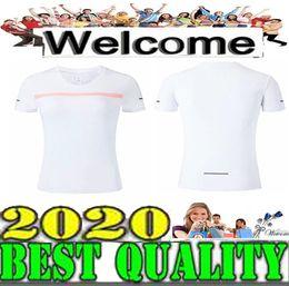 Wholesale Meilleure qualité T shirt à manches courtes pour femmes couleurs Blanc noir vert Vêtements d entraînement Vêtements d exercice Running Jogging Taille S XL