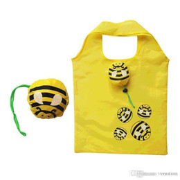 sacos de compras reutilizáveis animal Desconto Veratian Animal Dobrável Saco de Compras Eco Friendly Presente Das Senhoras Sacola Reutilizável Dobrável Viagem Portátil Bolsa de Ombro abelha