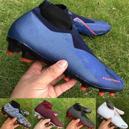 sapatos cr7 crianças pretas Desconto Melhor qualidade sapatos de homens lux preto futebol Fantasma VSN Elite DF FG Football Botas PSG jogo totalmente carregada sobre chuteiras de futebol de luxo mens