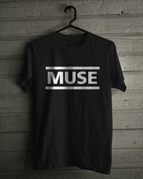 Logotipos de la banda de música online-Camiseta Muse, Music Rock Logo Band Negro Tee SIZE, M, L, XL, 2XL, 3XLFunny envío gratis Unisex Casual camiseta