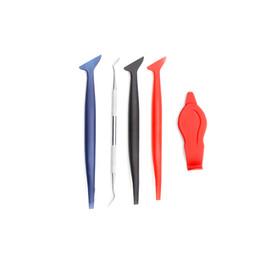5 pezzi in fibra di carbonio pellicola in vinile avvolgere strumenti per auto magnetico angolo bastone seccatoio raschietto guarnizione micro finestra tinta magnete set da dispenser per bottiglie di alcol fornitori