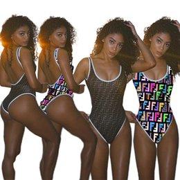 2019 майло-биин бикини-бич Женщины купальники бикини FF Письмо печати один кусок купальник мода бикини Женская одежда пляж бассейн партия Майо де Бэйн C42902 скидка майло-биин бикини-бич