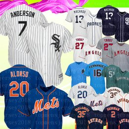 Jerseys de trucha online-Chicago 7 Tim Anderson White Sox Jersey Mets 20 Pete Alonso Padres 13 Manny Machado 27 Mike Trout 51 Ichiro Béisbol Jerseys