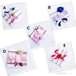 Fio de cabelo de coelho on-line-3 pçs / set Europeia menina do bebê headband Nylon cabelo Arcos Crianças Coloridas fio net Faixa de Cabelo Orelhas de Coelho Acessórios para o Cabelo conjunto