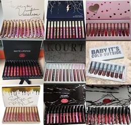 Maquillage à chaud de haute qualité 12 couleur de la mode = 1set Lipgloss Matte Étanche À Lèvres Étanche Gloss Edition DHL livraison gratuite ? partir de fabricateur