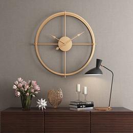 reloj de pared silencioso Rebajas 2019 Breve Estilo Europeo 3d Reloj Silencioso Reloj de Pared de Diseño Moderno para Oficina en Casa Relojes Colgantes Decorativos de Pared Decoración para el Hogar