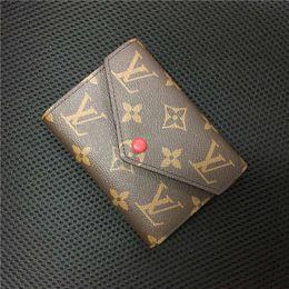 dólar moda designer bolsas Desconto Designer de carteira de luxo designer de carteira das mulheres bolsas bolsas de embreagem carteiras de couro designer bolsa titular do cartão com caixa 60136 25710