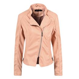 Sobretudo europa on-line-Mulheres jaquetas De Couro Curto 2019 Feminino Falso Casaco De Couro Waterpoof Blusão Moda Casaco De Rua Desgaste Hipsters Europa e América