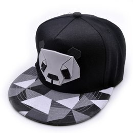 2019 casquettes plates à la mode Version coréenne de haute qualité coton bande dessinée hip hop chapeau mâle et femelle en caoutchouc en trois dimensions chapeau de panda casquette de baseball chapeau plat