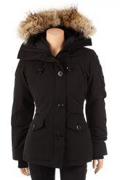 Giacca con cappuccio donna xl online-New Winter Warm Womens Designer Addensate 90% Gooses Down Slim Hooded Down Vest Giacca da uomo casual casual da donna Outdoor Parka Canada