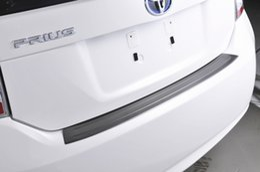 Sill toyota on-line-SUS304 Aço Inoxidável Traseiro Scuff Sill Guarnição Do Carro Styling Capa Acessórios para Toyota Prius 30 ZVW30 2010-2015