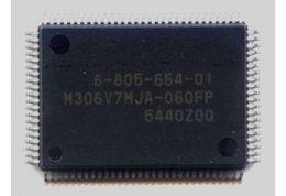 Lógica de tv on-line-Circuito de controle lógico M306V7MJA 060FP Color TV