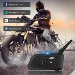 2019 nouvelle arrivée moto étanche interphone 1200m v6 casque réduction du bruit sans fil Bluetooth haut-parleur casque pour 6 coureurs ? partir de fabricateur
