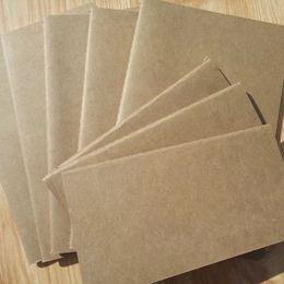 Canada A6 papier cahier vierge bloc-notes cahier doux vintage mémos quotidiens couverture kraft cahiers journal bloc-notes Offre