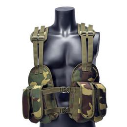 Almofadas de aterramento on-line-Outdoor Tactical Chest Rig ajustável suporte acolchoado Modular Vest Mag Pouch Revista Bag Earth Platform / Camouflage