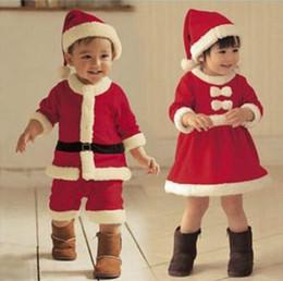 Prezzo inverno dei ragazzi invernali online-Hot fashion style Abbigliamento per bambini tute di Natale e berretto per il tempo libero abbigliamento ragazzi ragazze bambino inverno cotone prezzo all'ingrosso S19JS026