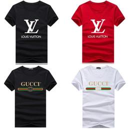 313805851 Venta al por mayor 2019 marca de lujo clásico rojo verde barra de impresión  camisa de manga corta camisa de polo camiseta mujeres diseñador para hombre  tops
