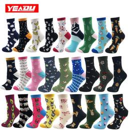 YEADU 85% cotone calze da donna Harajuku colorato fumetto carino divertente kawaii cane gatto maiale volpe spazio calzini per femmina regalo di natale da regali di natale di yoga fornitori