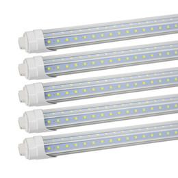 Base tubi condotti online-R17D girevole HO Base 8FT LED Tube Light a forma di V 72W (120W equivalente) Illuminazione negozio 8FT Dual-Power Power Bianco freddo 6000K