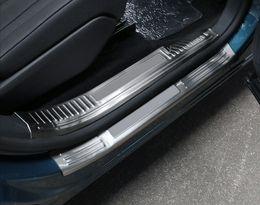 2019 soleiras de porta peugeot Car Styling 8PCS aço inoxidável placa do Scuff do peitoril da porta InnerOuter Threshold Tampa guarnição Para Peugeot 5008 GT 2017 2018 desconto soleiras de porta peugeot