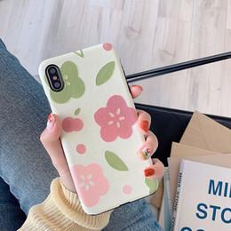 2019 étui en fleurs de soie Pour Iphone Xs Max X Xr Cas de téléphone Fleurs fraîches Soie Pour Apple 7 8 6 Plus En Relief TPU Souple Cas de téléphone portable étui en fleurs de soie pas cher