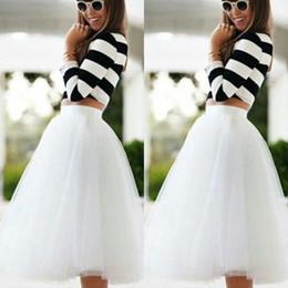 Billige weiße party kleidung online-2015 knielangen weißen tüll tutu röcke für erwachsene maßgeschneiderte a-linie günstige party prom petticoat unterröcke frauen kleidung billig
