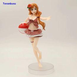 trajes de baño de figura Rebajas Sword Art Online Figure Yuuki Asuna Figura de acción Traje de baño Ver. Juguetes sexuales de PVC para hombres Figma Doll Figuras Anime Modelo Girl Gift XP