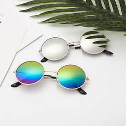 2019 anteojos redondos para niños Zilead Fashion Baby Sunglasses Brand Retro Kids Round Sun Glasses Niños Outdoor UV Shade Eyeglasses Eyeware For GirlsBoys anteojos redondos para niños baratos