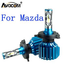 faro antiniebla para mazda Rebajas Venta al por mayor 2 Unids LED Car Turbo Faros 12V CSP 6500K 12000Lm 72W Auto DRL Lámpara de niebla para Mazda 3/6 / CX5 / 323 / B2200 / MPV / 929