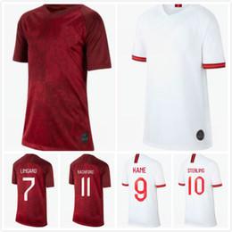 Nueva camiseta de fútbol de inglaterra online-New englandes soccer 2019 Jersey mujer Home white away rojo LINGARD KANE STERLING RASHFORD DELE ms 19 20 dama Uniforme de fútbol