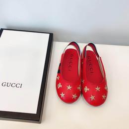 2019 broderies pour enfants 2019 nouveaux enfants filles en cuir haut de gamme chaussures mode mignon casual respirant Star Bee broderie vente chaude broderies pour enfants pas cher