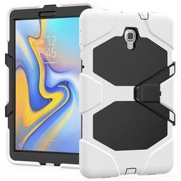 2019 ibridi da tavoletta Custodia in silicone ibrido antiurto 2 in 1 con cavalletto per Samsung Galaxy Tab A 10,5 T590 T595 SM-T590 Tablet + penna sconti ibridi da tavoletta