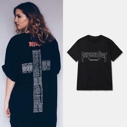 T shirt court justin bieber en Ligne-Nouveau but Tour Mens Designer T-shirts Justin Bieber Box Logo Hip Hop Designer Shirt Hommes Femmes Manches courtes