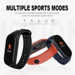 2020 orologio di conteggio M4 Smart Wristband Sport Bracelet Watch Conteggio passi Cardiofrequenzimetro Fitness Tracker Nuoto Cinturino impermeabile sconti orologio di conteggio