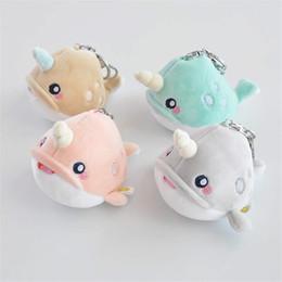 Pequeno brinquedo de pelúcia chaveiro on-line-12CM Mini bonito do golfinho de pelúcia Toy boneca macio Plush Keychain pequeno pingente de golfinho Oceano bicho de pelúcia Plush Dolls Brinquedos