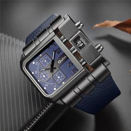 costruire orologi Sconti Oulm Fashion Quartz Orologi Uomo Quadrante Grande quadrante Orologio casual Pulsante incorporato Sport Orologio maschile relogio masculino