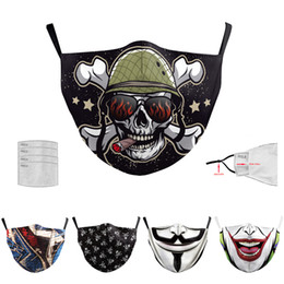 Máscaras fantasia on-line-Festa Anime Urso bonito Máscara Adulto Fancy Dress metade inferior da face Boca Muffle máscara reutilizável poeira quente Windproof Cotton Black Mask