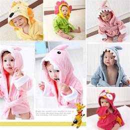 Hooded baby bath towels en Ligne-9 conceptions Serviette de bain pour enfants avec capuchon pour enfants / Peignoir de bain à modélisation animale / Pyjamas pour bébés avec dessins animés