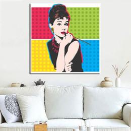 arte da parede da lona de audrey hepburn Desconto Audrey Hepburn Por Andies Warholer Pintura Da Lona Impressão Quarto Home Decor Modern Arte Da Parede Pintura A Óleo Poster Salon Pictures