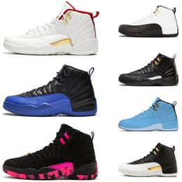 jogos originais Desconto Original 12 12 s homens sapatos de basquete CNY jogo Royal OV branco playoffs Universidade Azul Michigan Mens Mens Sneakers Athletic Athletic 7-13
