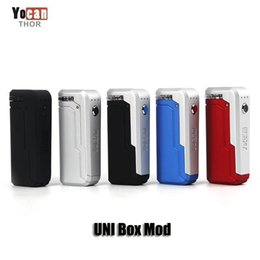 Wholesale Battery - 100% Original Yocan UNI Box Mod 650mAh Preheat VV Variable Voltage Battery With Magnetic 510 Adapter For Thick Oil Cartridge Authentic