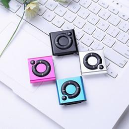 2019 mp3 directo Nuevo estilo directo de fábrica de pequeña caja de metal 6 S Push-Button Clip MP3 ultra-delgada tarjeta Mini MP3 Player instert rebajas mp3 directo