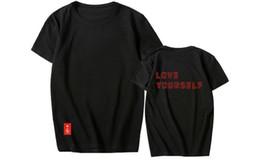 Camisetas de niño online-LOVE YOURSELF BTS Tshirts Hombre Mujer Adolescente Verano Manga corta Tops Camiseta