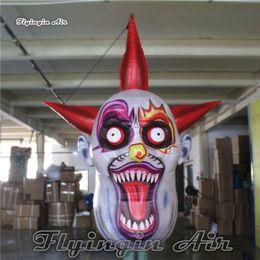 Tête accrochante de diable accrochante adaptée aux besoins du client de masque de démon de Halloween taille 3m pour la décoration de boîte de nuit et de partie ? partir de fabricateur