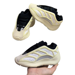 2019 zapatos de kevin durant para niños Zapatos Kanye West 700V3 jóvenes niños Azael Alvah Esqueleto las muchachas del muchacho Entrenadores zapatillas de deporte de los zapatos corrientes de los niños V3 tamaño de los zapatos 26-35