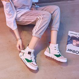 Hip-hop de baile callejero más terciopelo zapatillas altas estudiantes  femeninas Versión coreana de los salvajes zapatos casuales 2018 nuevo  estilo de ... 74669147321