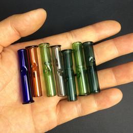 Tubo de tabaco de 9mm on-line-9mm Colorido Mini Dicas De Filtro De Vidro para Os Rolos RAW Erva Seca Tabaco com Tabaco de Cigarro de Tabaco Grosso Tubos De Fumo De Vidro de Pirex