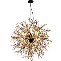 Fogo de Artifício LED Lustre de Luz de Aço Inoxidável Iluminação de Cristal Novo para Sala de estar Sala de Jantar B071 de