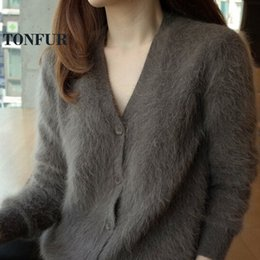 customize cardigan Promo Codes - 100% Real Mink Cashmere Button Cardigans Long Mink Cashmere Sweaters Factory Customize Wholsale Retail OEM DFP909