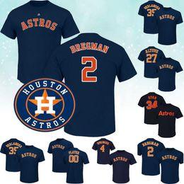 Camisetas george online-Houston José Altuve Astros camiseta Alex Bregman George Springer Carlos Correa Nolan Ryan Jeff Bagwell Craig Biggio Yuli Gurriel camiseta